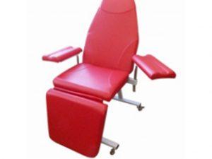 Кресло донора  к-02дн для забора крови в процедурный кабинет с широкими подлокотниками - цвет Красный
