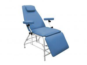 Кресло донора  ДР 04  для забора крови в процедурный кабинет CMD  с широкими подлокотниками - цвет СИНИЙ