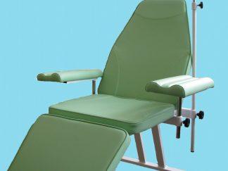 Кресло донорское  для забора крови с подлокотниками к-02дн - цвет Салатовый  Гематест