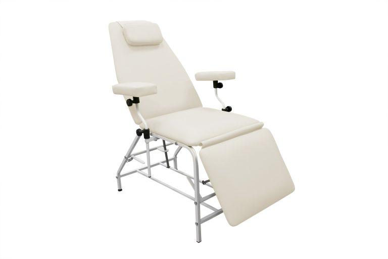 Кресло донора  ДР 04  для забора крови в процедурный кабинет  с широкими подлокотниками - цвет БЕЛЫЙ