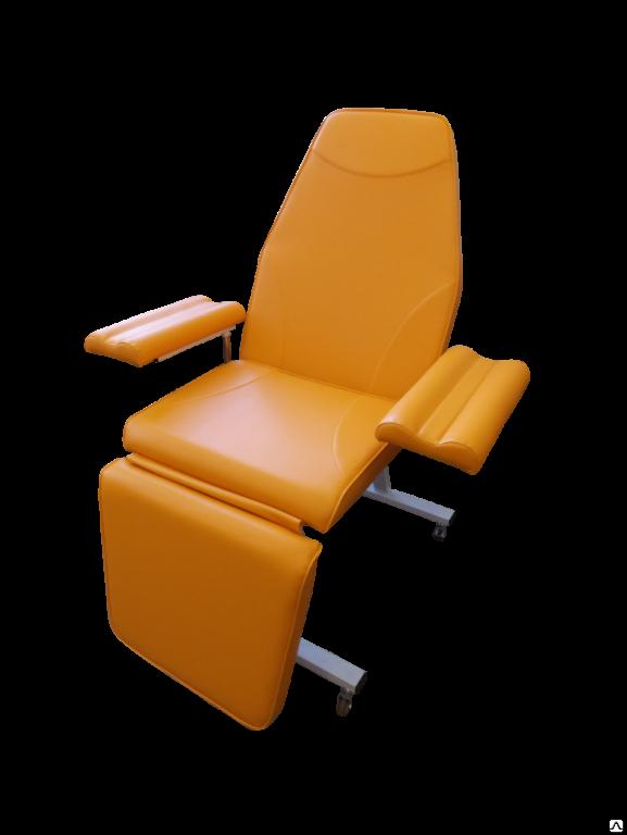 Донорское кресло к-02дн для забора крови в процедурный кабинет ИНВИТРО с широкими подлокотниками