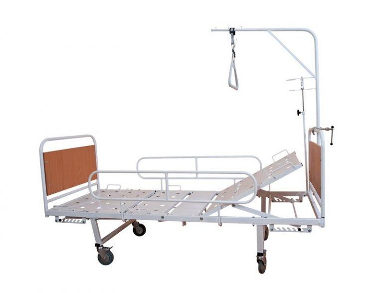 Кровать медицинская КФМ4-01 со съемными колесами