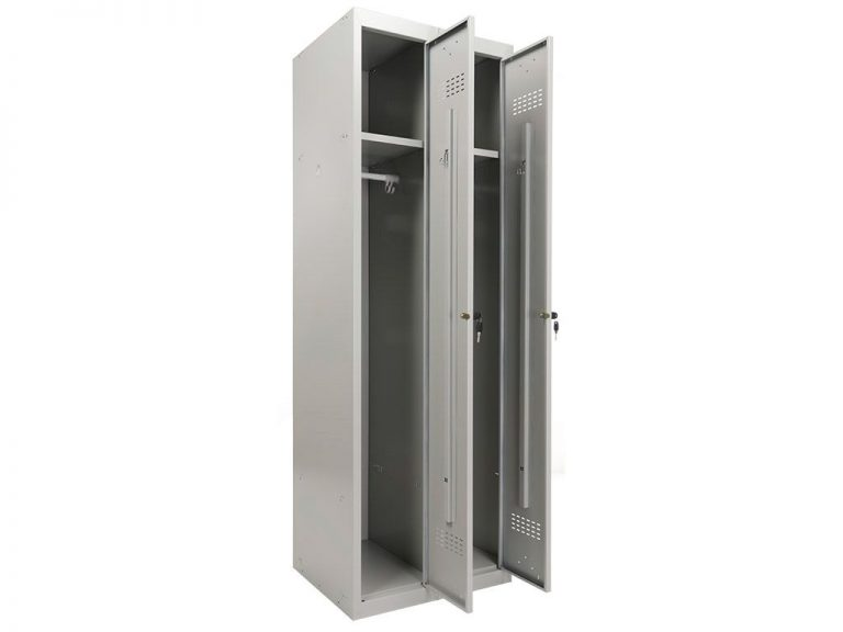 Шкаф для раздевалок ПРАКТИК усиленный ML 21-60 (ML-11-30 + ML-01-30)