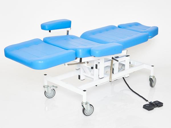 Терапевтическое кресло для процедур с электроприводом высоты вариант №1