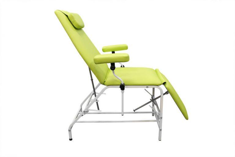 Кресло донора  ДР 04  для забора крови в процедурный кабинет ЛАБКВЕСТ с широкими подлокотниками - цвет Яблочный зеленый