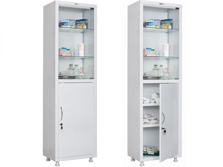 Медицинский шкаф HILFE МД 1 1657/SG